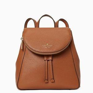 New💃Kate Spade leila flap backpack in Gingerbread